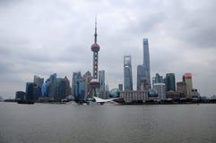 Lujiazui horisont shanghai Arkivfoton