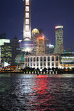 Lujiazui lit up at night Royalty Free Stock Image
