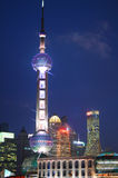 Lujiazui lit up at night Royalty Free Stock Images