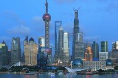 Lujiazui moderne gebouwen van Shanghai pudong Royalty-vrije Stock Afbeeldingen