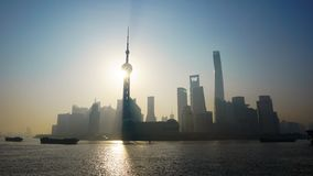 Lujiazui in the morning stock images