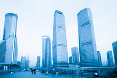 Lujiazui night. The night view of the lujiazui financial centre in shanghai china Royalty Free Stock Photo