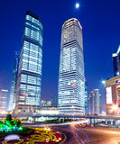 Lujiazui night. The night view of the lujiazui financial centre in shanghai china Royalty Free Stock Images