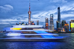 Lujiazui at Night Royalty Free Stock Photo