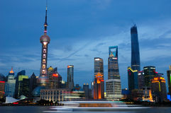 Lujiazui at night Royalty Free Stock Image