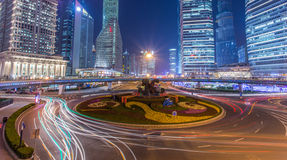 Lujiazui night scene in Shanghai Royalty Free Stock Images