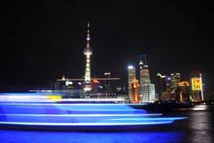 Lujiazui night of Shanghai China Stock Image