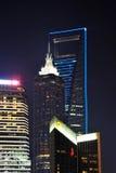 Lujiazui noc Szanghaj Chiny Zdjęcia Royalty Free