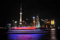 Lujiazui noc Szanghaj Chiny Zdjęcia Stock