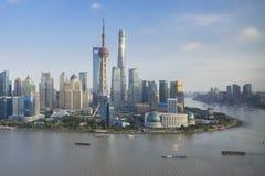 Lujiazui område av Shanghai Fotografering för Bildbyråer