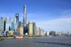 Lujiazui pudong shanghai stock image