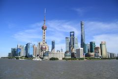 Lujiazui pudong shanghai royalty free stock photography