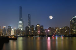 Lujiazui Pudong Skyline Stock Photo