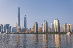Lujiazui Pudong Skyline Royalty Free Stock Photo