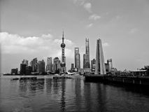 Lujiazui scene in Shanghai Stock Photography
