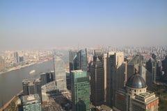 Lujiazui skyline in Shanghai Royalty Free Stock Photo