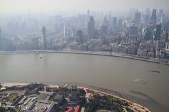 Lujiazui skyline in Shanghai Royalty Free Stock Photos