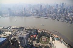 Lujiazui skyline in Shanghai Royalty Free Stock Images