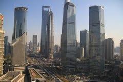 Lujiazui Skyline in Shanghai Royalty Free Stock Image