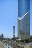 Lujiazui van Shanghai pudong Royalty-vrije Stock Foto's