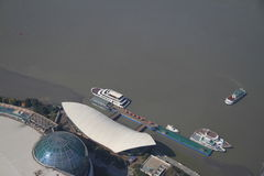Lujiazui wharf in Shangai Royalty Free Stock Images
