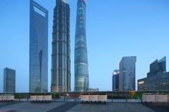 Lujiazuiwolkenkrabbers van Shanghai pudong stock foto