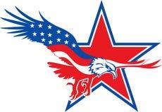 Lujo de la estrella de Eagle stock de ilustración