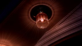 Lujo de la lámpara en cristales almacen de metraje de vídeo