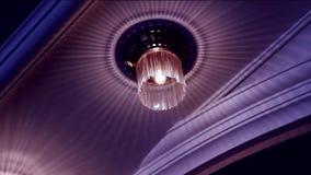 Lujo de la lámpara en cristales metrajes