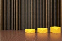 Lujo de la sala de estar y de madera Fotografía de archivo