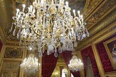 Lujo en los apartamentos de Napoleon III Imagenes de archivo