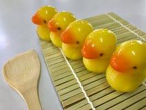 Luk Chup - confection miniature thaïlandaise faite de pois chiche et sucre glaçant avec la gélatine Image stock