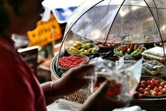 Luk Chup - frutti miniatura tailandesi Fotografia Stock Libera da Diritti