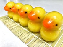Luk Chup - Thai miniature confection made of chickpea and sugar glazing with gelatin Stock Images