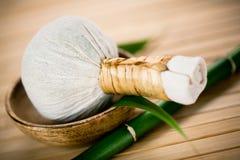 Luk Pra Kob massage stamp Stock Image