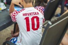 Luka Modric 10橄榄球克罗地亚 免版税库存图片