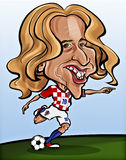 Luka Modric. Caricature of Luka Modric - Croatian famous soccer player Royalty Free Stock Photo