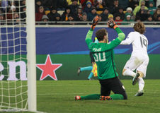 Luka Modric celebrate goal stock photography