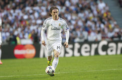 Luka Modric Champion League 2014 Royalty Free Stock Images