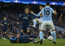 Luka Modric and David Silva Royalty Free Stock Photos