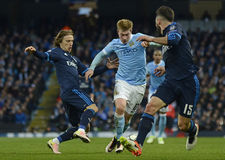 Luka Modric and Kevin De Bruyne Royalty Free Stock Image