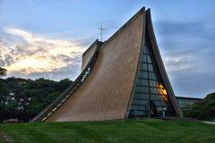 Luka Pamiątkowa kaplica przy półmrokiem Obraz Stock