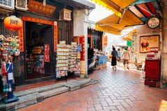 Lukang old street, shopping street in Taiwan. Lukang, Taiwan - May 5, 2018 : Lukang old street, shopping street Royalty Free Stock Images