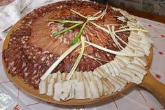 Lukanka болгарское салями уникально к болгарской кухне стоковое фото