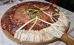 Lukanka болгарское салями уникально к болгарской кухне стоковая фотография