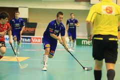 Lukas Hruby - floorball Stock Image