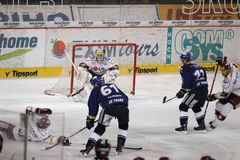 Lukas Klimek - Tsjechisch hockey extraleague royalty-vrije stock afbeeldingen