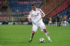 Lukas Podolski. Playing against Steaua Bucharest at Bucharest - Ghencea Royalty Free Stock Image