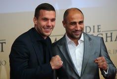 Lukas Podolski, Arthur Abraham Stock Photography