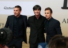 Lukas Podolski, Joachim Loew, Mario Goetze Stock Image